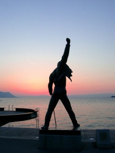 Freddie Mercury statue in Montreux, Switzerland