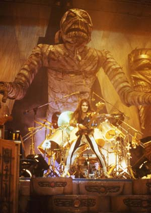 Steve Harris on the Powerslave Tour 1985