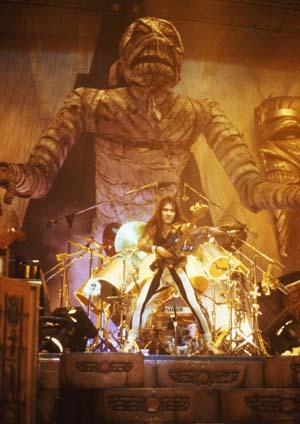 Steve Harris on the Powerslave Tour1985