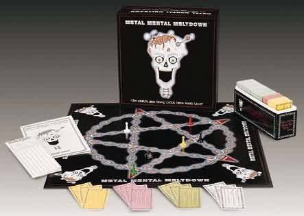 Metal Mental Meltdown trivia board game promo pic (2001)